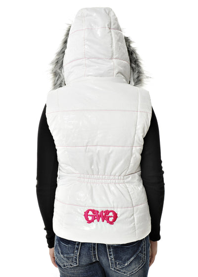 a GWG Fur Vest White - American Outdoor Woman