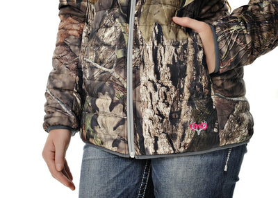 GWG Puff Jacket Reversible Mossy Oak Charcoal - American Outdoor Woman