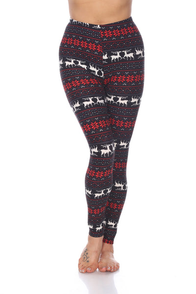 Black/Red Seasonal Leggings - American Outdoor Woman