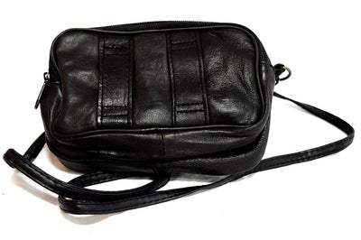 Black Leather Accessory Bag Liberty Wear