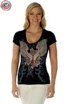 Guns & Wings Country T Shirt - American Outdoor Woman