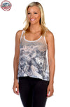 Wolf with Pups Tank Top - American Outdoor Woman
