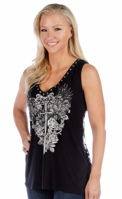 Plunging Dagger Tank - American Outdoor Woman