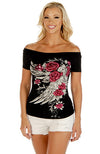 Blossomed Elegance Women's Western Open Sleeve Top - American Outdoor Woman