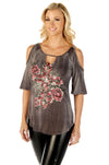 Women's Western  open Shoulder Top