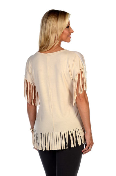Women's Pride on the Savannah Fringe Top