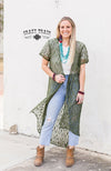 OLIVE ALBUQUERQUE DUSTER ** OLIVE DUSTER WOMEN'S WESTERN