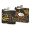Camo Leather 6 oz. Flask - American Outdoor Woman