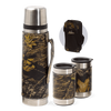 Camo Leather Vacuum Bottle/Mug Set