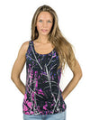Muddy Girl Camo  Women's Pink Camo Tank Top - American Outdoor Woman
