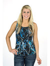 Undertow Camo Women's Blue Camo Tank Top