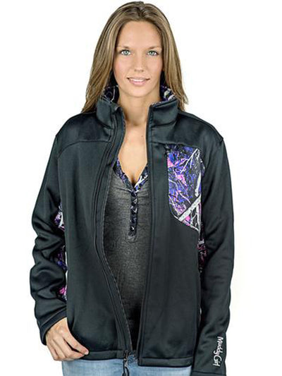 a Muddy Girl Jacket Side Protek Soft Shell - American Outdoor Woman