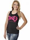 Girls With Guns  Classic Tank Top Black/Pink Glitter