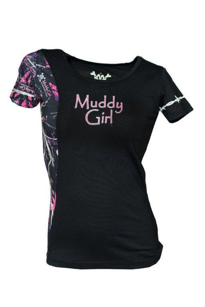 Muddy Girl Camo Logo T-Shirt Edge - American Outdoor Woman