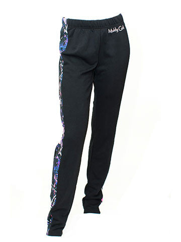 Muddy Girl Camo Sweat Pants Low Cut Black
