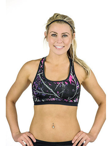 Muddy Girl Camo Full Support Sports Bra - American Outdoor Woman