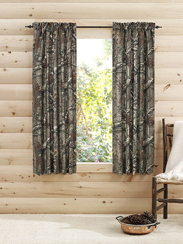 Mossy oak panel pair curtains american outdoor woman
