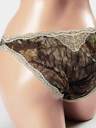 Mossy Oak Break-Up Country Panties Lace Cream - American Outdoor Woman