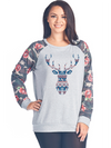Pus Size Top with Camo Flower Top - American Outdoor Woman