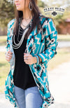 SALLY RIDE DUSTER ** TURQ/BLACK AZTEC  women's western - American Outdoor Woman
