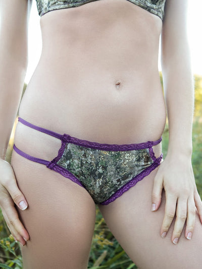 *Plum Accent Strappy Bikini Pantie - American Outdoor Woman