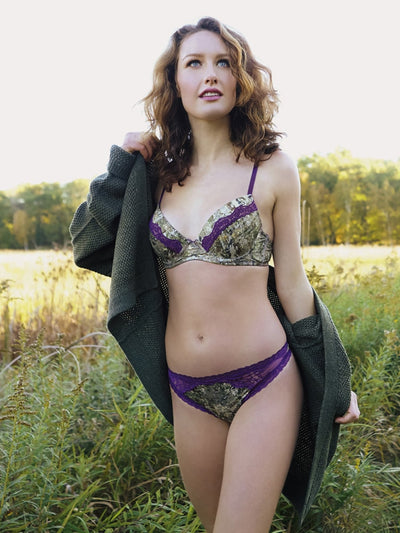 *Plum Lace Women's Camo Bra (Bra only) - American Outdoor Woman
