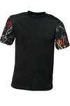 Men's Black/Wild Fire Short Sleeve Tee