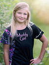 Youth Muddy Girl Shirt Side Tee - American Outdoor Woman
