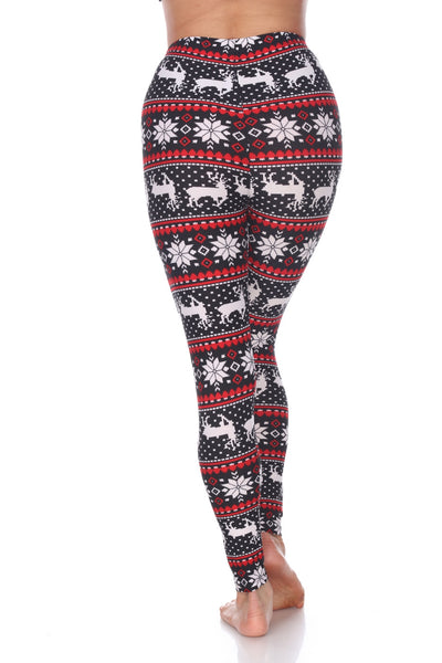 Blk/Wht/Red Seasonal Leggings - American Outdoor Woman