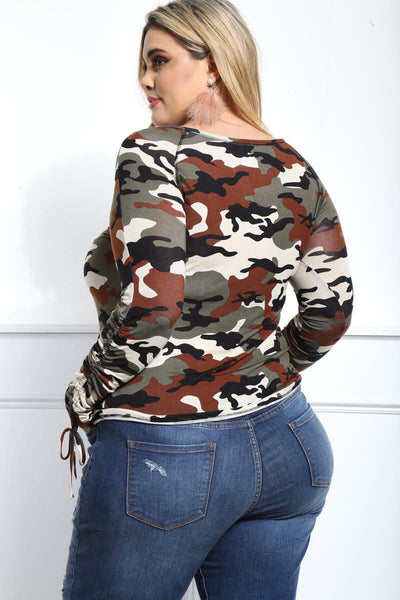 Camo Long Sleeve (Plus Size) - American Outdoor Woman