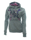 a Moon Shine Hoodie Muddy Girl Grey - American Outdoor Woman