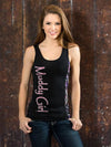 Muddy Girl Camo Edge Logo Tank Top Black - American Outdoor Woman