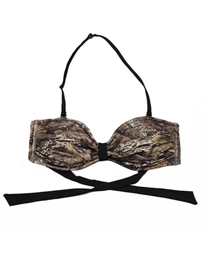 Mossy Oak Break Up Country Swimsuit Bandeau Top - American Outdoor Woman