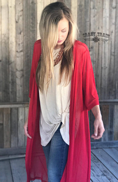 Rodeo Women's Western Duster (Candy Apple Red)