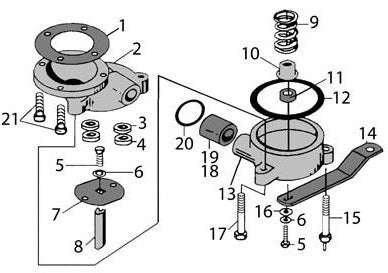 Sketch of how to put together Large Mixing Valve for Lindsay Style Sandblaster.