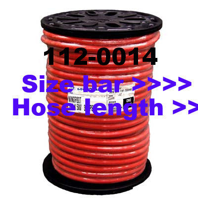 Red Air Hose by Foot