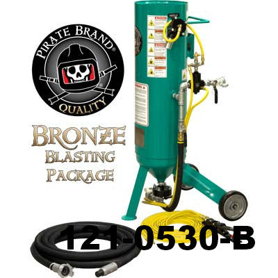 Pirate Brand CPR Jr. Small Portable Sandblaster 1.0  Cu. Ft.