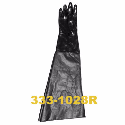 Sandblast Gloves right hand only with cotton lined ranchide sleeve.