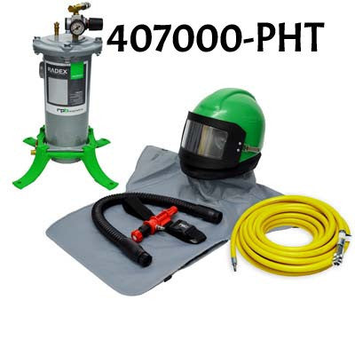 Nova 2000 Sandblasting Helmet with Hot Tube Made by RPB in the USA.