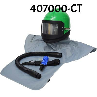 Nova 2000 Sandblasting Helmet with cool tube made by RPB in the USA.