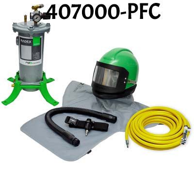Nova 2000 Sandblasting Helmet with Air Flow Control made by RPB in the USA