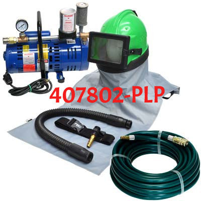 Astro Sandblasting Helmet with Breathing Pump