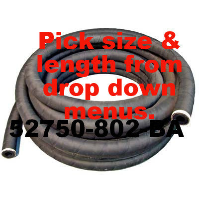 "Black Sandblast Hose by Foot - 5/8"" ID"