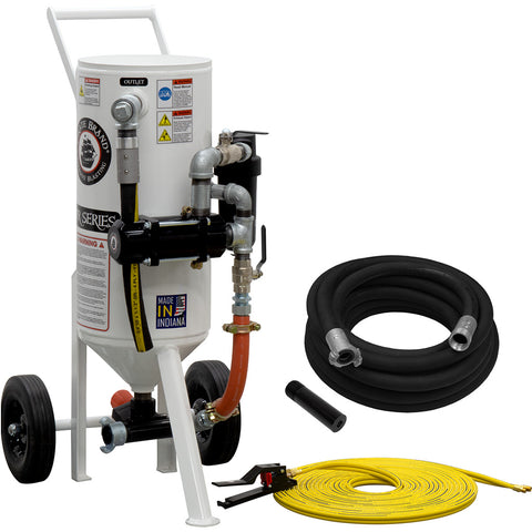 Portable Sandblaster Pressure Release System 1.5 cu. ft., 150 lbs.   This is a industrial style portable sandblaster.