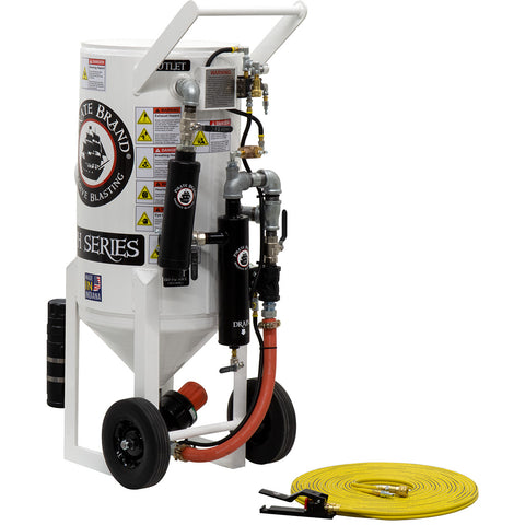 Sandblasters, Portable, Pressure Hold 3.5 cu. ft. (350 pound) with remote shut off.