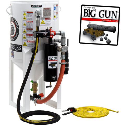 Stationary Sandblasters (Big Gun) for Ultimate Performance to increase production rate.