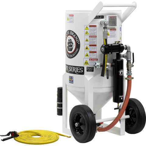 Sandblasters, Portable Equipment 6.5 cu.ft. (650 lbs.) pressure release style (650 pound) pneumatic operated