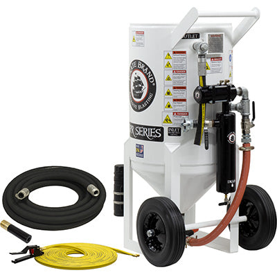 Sandblaster Pressure Release System 6.5 cu. ft. (650 lbs.)  This is a industrial style portable sandblaster.