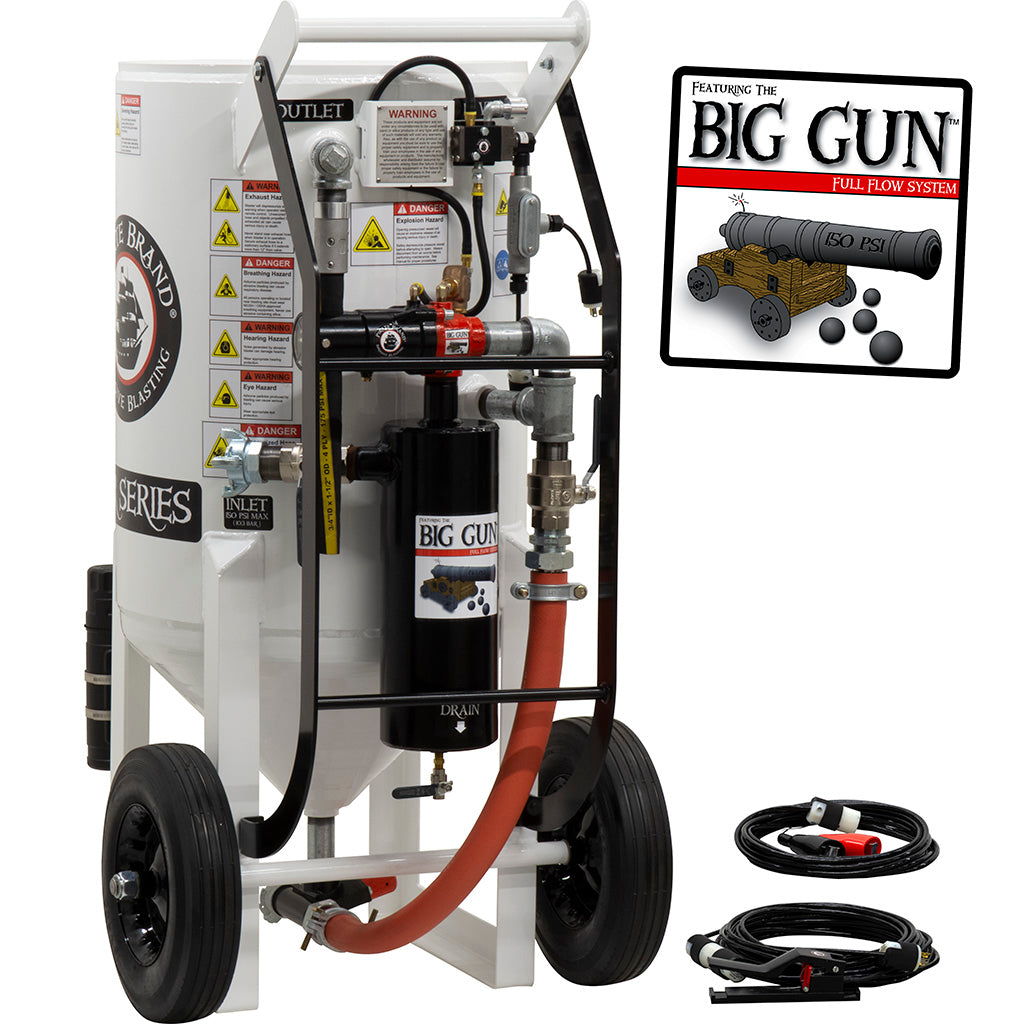Sandblasting Equipment Big Gun Pressure release 12 VDC Electric controls
