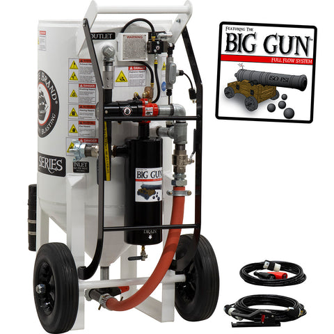 Sand Blaster Big Gun Pressure release 12 VDC Electric controls